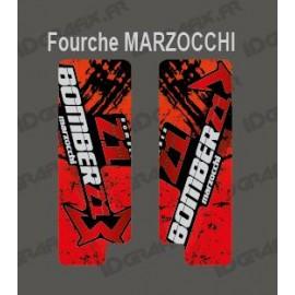 Sticker Schutz-Gabel, Pinsel (Rot), Marzocchi Bomber-idgrafix