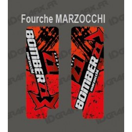 Stickers Protection Fork Brush (Red) - Marzocchi Bomber - IDgrafix