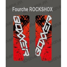 Stickers Protection Fork Brush (Red) - RockShox Boxxer-idgrafix
