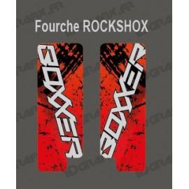Stickers Protection Fork Brush (Red) - RockShox Boxxer - IDgrafix