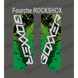 Stickers Protection Fork Brush (Green) RockShox Boxxer-idgrafix