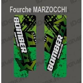 Sticker Schutz-Gabel, Pinsel (Grün), Marzocchi Bomber-idgrafix