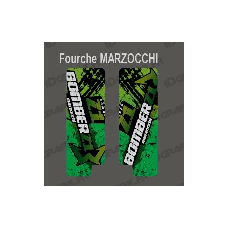 Stickers Protection Fork Brush (Green) Marzocchi Bomber - IDgrafix