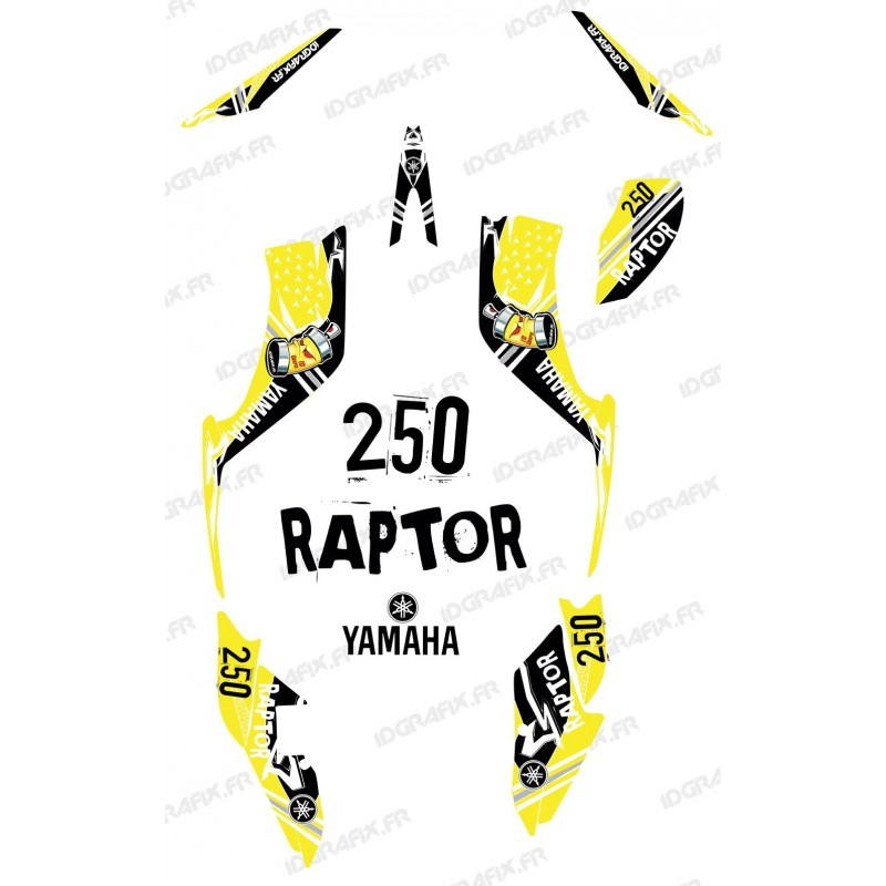 Kit décoration Street Jaune - IDgrafix - Yamaha 250 Raptor - Idgrafix