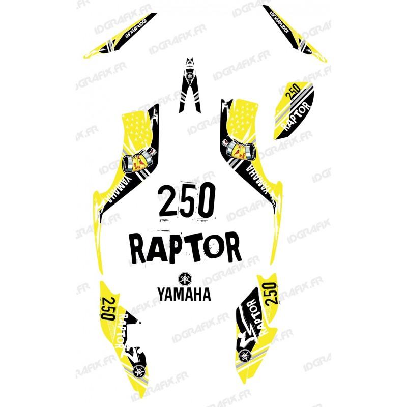 Kit de decoración de la Calle de color Amarillo - IDgrafix - Yamaha Raptor 250 -idgrafix