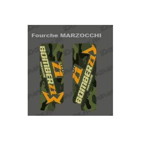 Stickers Protection Fork Camo(Green) - Marzocchi Bomber-idgrafix