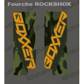 Stickers Protection Fork Camo (Green) RockShox Boxxer - IDgrafix