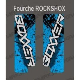 Stickers Protection Fourche Brush (Bleu) RockShox Boxxer-idgrafix