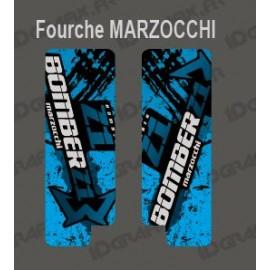 Stickers Protection Fork Brush (Blue) - Marzocchi Bomber - IDgrafix