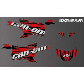 Kit de decoración de Salpicaduras de Edición (Rojo) - Idgrafix - Can Am Maverick DEPORTE -idgrafix