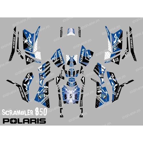 Kit de decoración de la Calle Azul (Completo) - IDgrafix - Polaris 850/1000 Scrambler