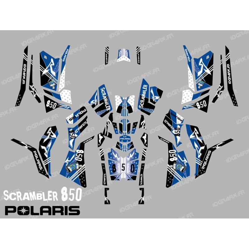 Kit décoration Street Bleu (Full) - IDgrafix - Polaris 850/1000 Scrambler - Idgrafix