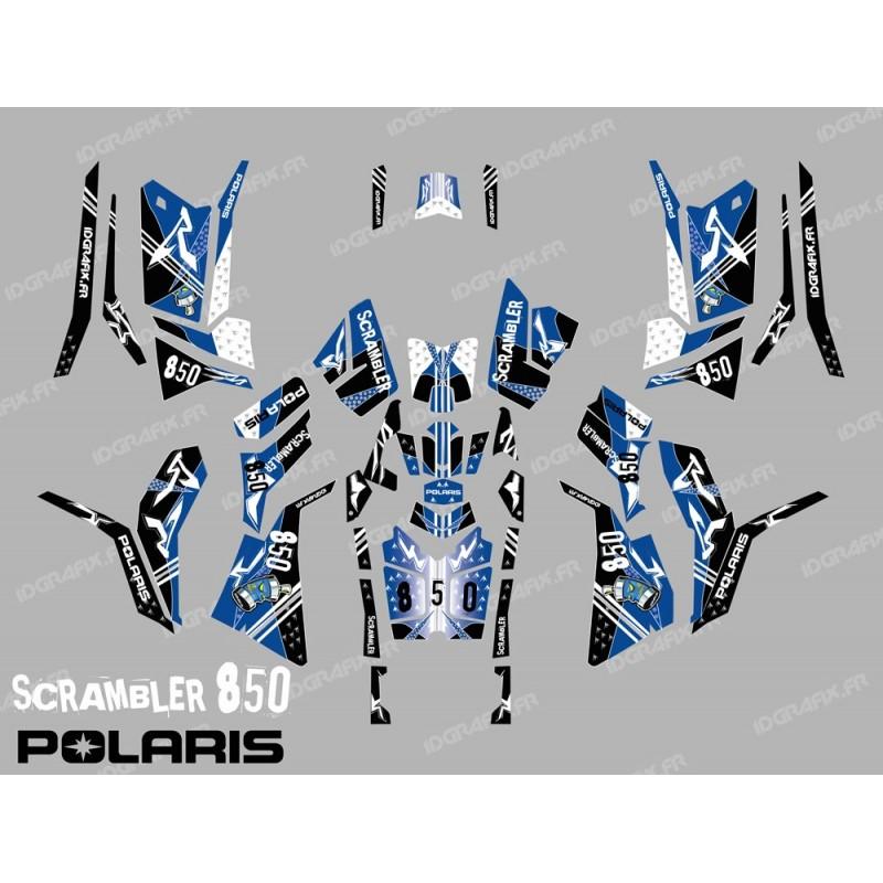 Kit de decoración de la Calle Azul (Completo) - IDgrafix - Polaris 850/1000 Scrambler -idgrafix