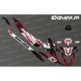 Kit de decoración de la Salpicadura de la Carrera de Edición (Rojo) - Seadoo RXT-X 300 -idgrafix