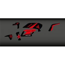 Kit deco Rockstar Edició (Vermell) - IDgrafix - Yamaha MT-07 (després de 2018)
