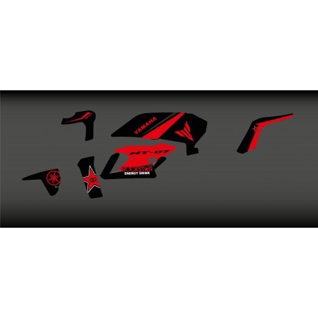 Kit deco Rockstar Edition (Red) - IDgrafix - Yamaha MT-07 (after 2018)-idgrafix