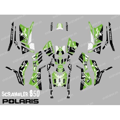 Kit de decoración de la Calle Verde (Completo) - IDgrafix - Polaris 850/1000 Scrambler
