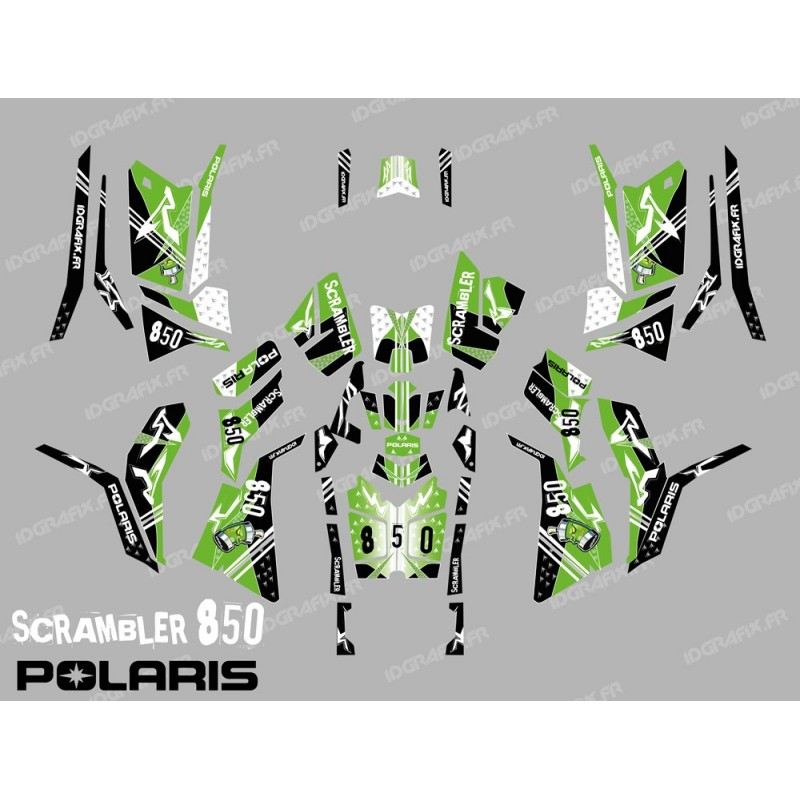 Kit decoration Street Green (Full) - IDgrafix - Polaris 850/1000 Scrambler-idgrafix