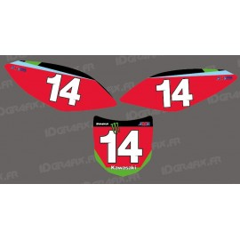 Kit decoration Plate Number Blake Bagget Replica - Kawasaki KX/KXF-idgrafix