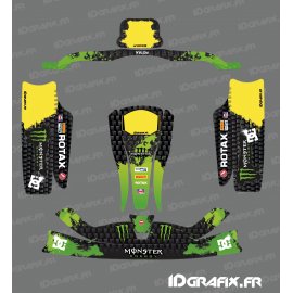 Kit deco 100% Custom Monster Green for go-Karting KG CIK02 - IDgrafix