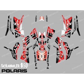 Kit décoration Street Rouge (Full) - IDgrafix - Polaris 850 Scrambler