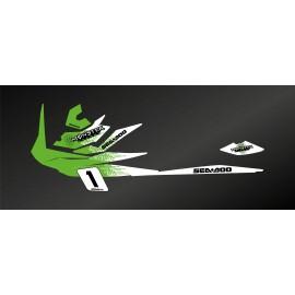 Kit de décoration Monstruo de Luz (Verde) para Seadoo GTI -idgrafix