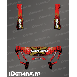 Kit decoration Cracked Series Red - IDgrafix - Can Am Traxter