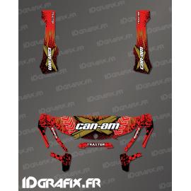 Kit decoration Cracked Series Red - IDgrafix - Can Am Traxter-idgrafix