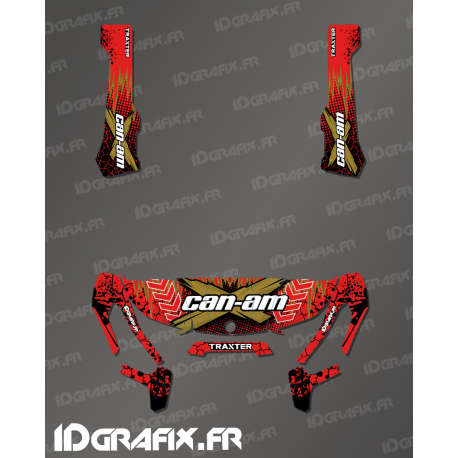 Kit decoration Cracked Series Red - IDgrafix - Can Am Traxter - IDgrafix