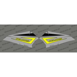 Kit di decorazione della Porta di Basso Originale Polaris Grigio/Limon - IDgrafix - Polaris RZR 900/1000 -idgrafix