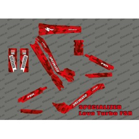 Kit deco de Camuflaje del Ejército Edición Completa (Rojo) - Specialized Turbo Levo -idgrafix