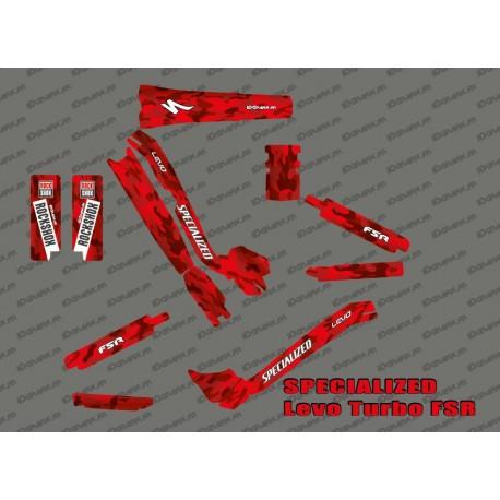 Kit deco Camo SWORKS Edition Full (Red) - Specialized Turbo Levo - IDgrafix