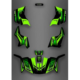 Kit décoration Monster Green Edition (Full) - IDgrafix - ADLY 600 - IDgrafix