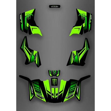 Kit décoration Monster Green Edition (Full) - IDgrafix - ADLY 600 - IDgrafix