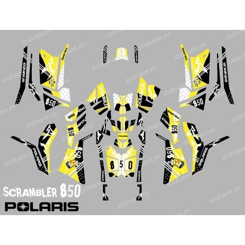 Kit decorazione Street Giallo (Completa) - IDgrafix - Polaris Scrambler 850 -idgrafix