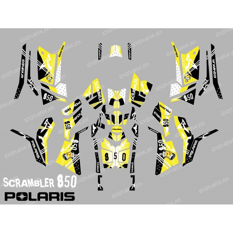 Kit decoration Street Yellow (Full) - IDgrafix - Polaris 850 Scrambler-idgrafix