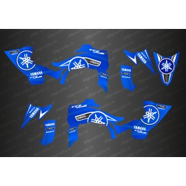 Kit de decoració Karbonik Blau/Blanc - IDgrafix - Yamaha YFZ 450 / YFZ 450R -idgrafix