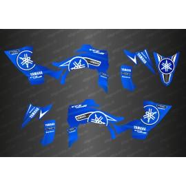 Kit dekor Karbonik Blau/Weiß - IDgrafix - Yamaha YFZ 450 / YFZ 450R