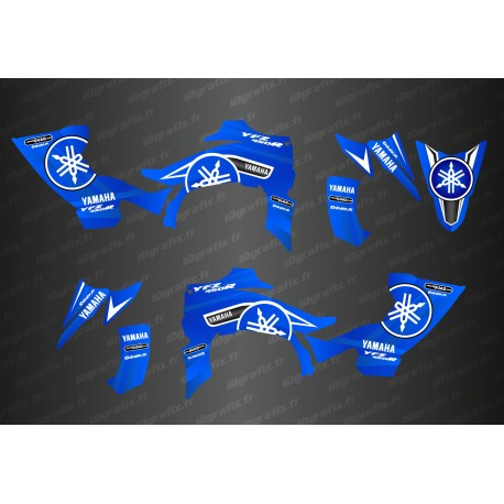 Kit decoration Karbonik Blue/White - IDgrafix - Yamaha YFZ 450 / YFZ 450R-idgrafix