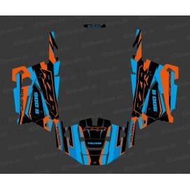 Kit de decoració Fàbrica Edició (Blau/Taronja) - IDgrafix - Polaris RZR 900 -idgrafix