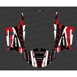 Kit de decoració Fàbrica Edició (Blanc/Vermell) - IDgrafix - Polaris RZR 900 -idgrafix