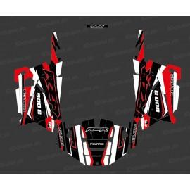Kit de decoración de la Fábrica de Edición (Blanco/Rojo) - IDgrafix - Polaris RZR 900 -idgrafix