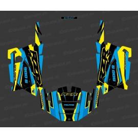 Kit de decoració Fàbrica Edició (Blau/Groc) - IDgrafix - Polaris RZR 900 -idgrafix