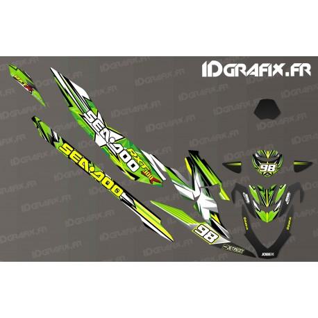 Kit decoration Drawing Edition (Green) - Seadoo RXT-X 300 - IDgrafix