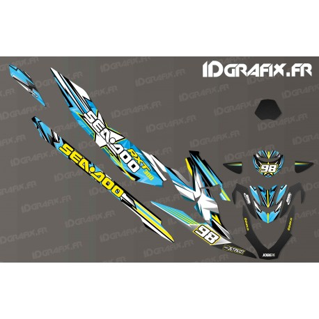 Kit decoration Drawing Edition (Blue) - Seadoo RXT-X 300-idgrafix