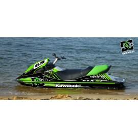 Kit de decoración 100% Personalizada M Verde para Kawasaki STX 15F -idgrafix