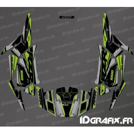 Kit de decoración de la Fábrica de Edición (Gris/Verde)- IDgrafix - Polaris RZR 1000 S/XP -idgrafix