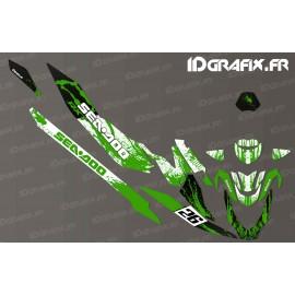 Kit de decoración de la Salpicadura de la Carrera de Edición (Verde) - Seadoo RXT-X 300 -idgrafix