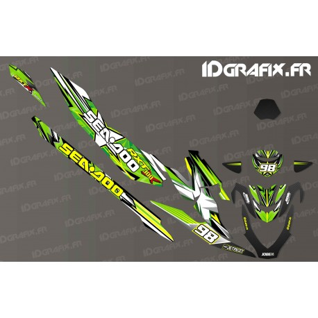 Kit décoration Monster Race Edition (Green) - Seadoo RXT-X 300-idgrafix