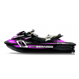 Kit décoration Monster Race Pink for Seadoo RXT 260 / 300 (S3 hull) - IDgrafix